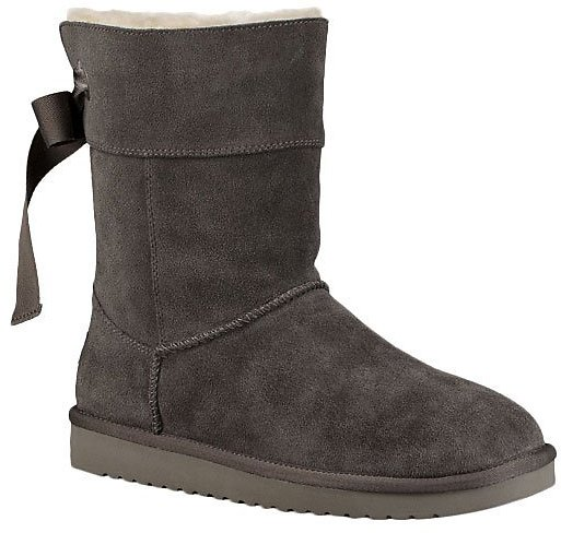 Stone Gray Andrah Short Suede Boot - Women