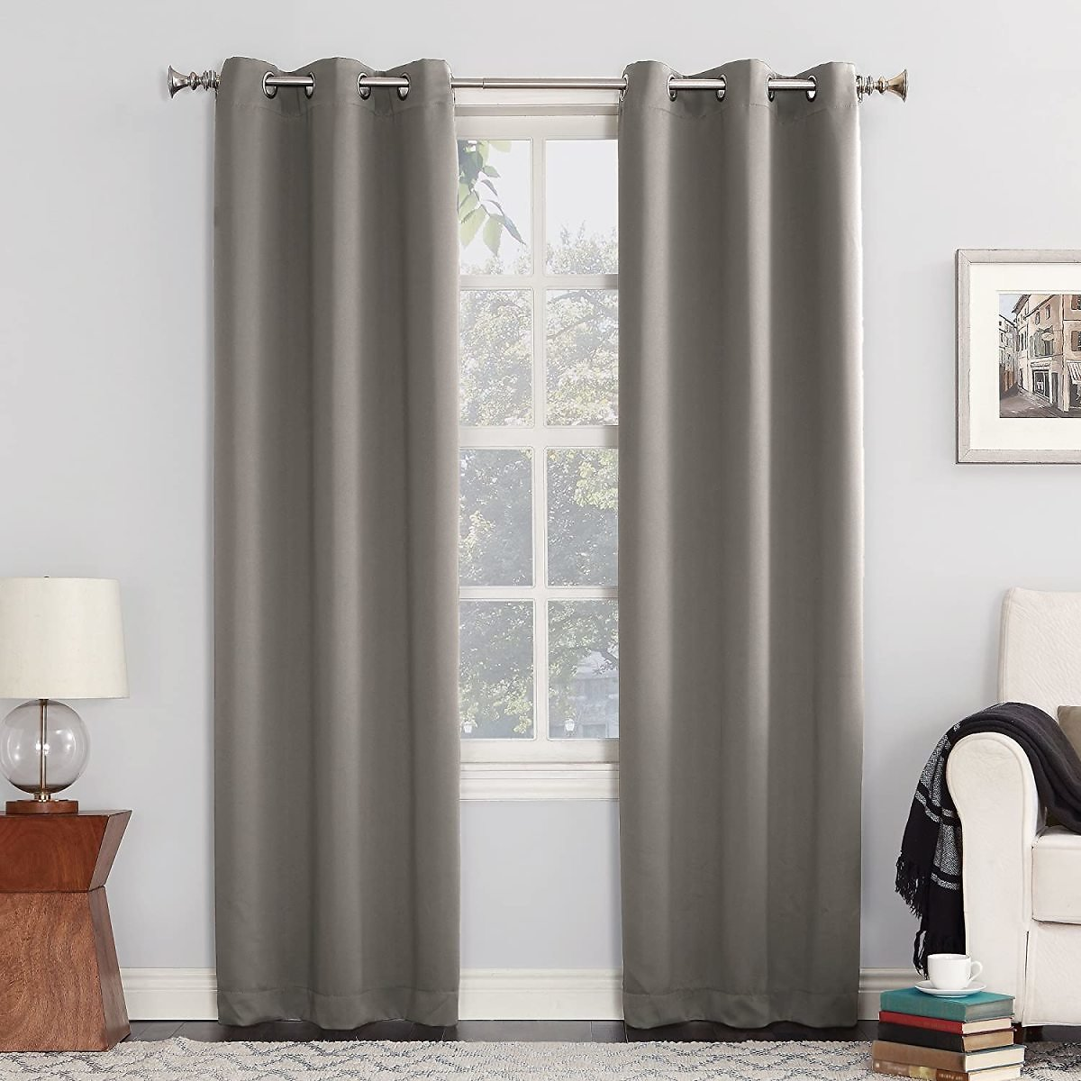 Sun Zero Easton Blackout Energy Efficient Grommet Curtain Panel, 40