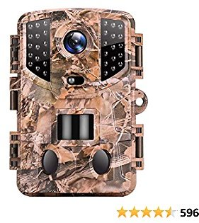 VanTop Ninja 1 Trail Camera 20MP 1080P Hunting Game Cam with Night Vision Motion Activated, Waterproof Scouting Camera with 3 Infrared Sensors, 120° Detecting Range for Wildlife Monitoring