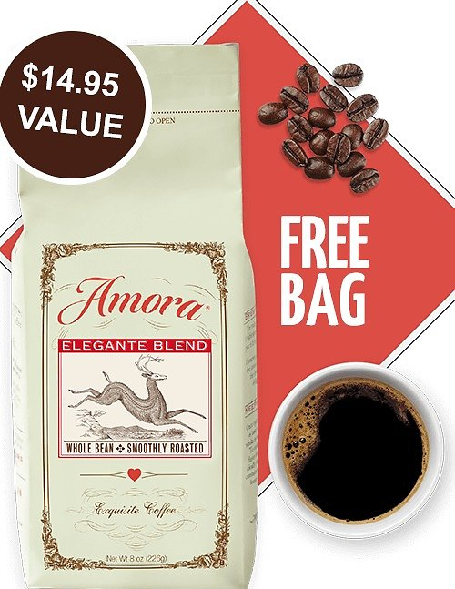Amora Coffee for Only $1