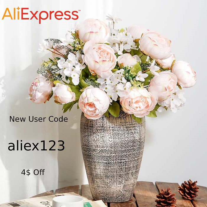 49% Off + $4 Off = $3.96 On Artificial Peony Flowers