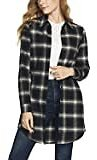 CQR Women's Hooded Plaid Flannel Shirt Long Sleeve, All-Cotton Soft Brushed Casual Button Down Shirts: Clothing