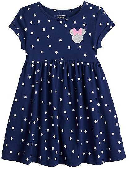 Disney's Minnie Mouse Toddler Girl Roll Cuff Babydoll Dress by Jumping Beans