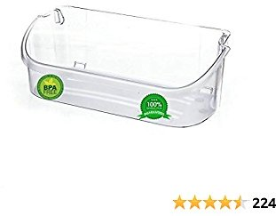 240356402 Door Bin Shelf - Compatible With Frigidaire 240356402, AP2549958, PS430122 Refrigerator Door Bin Works For Top 2 Shelf (Clear)