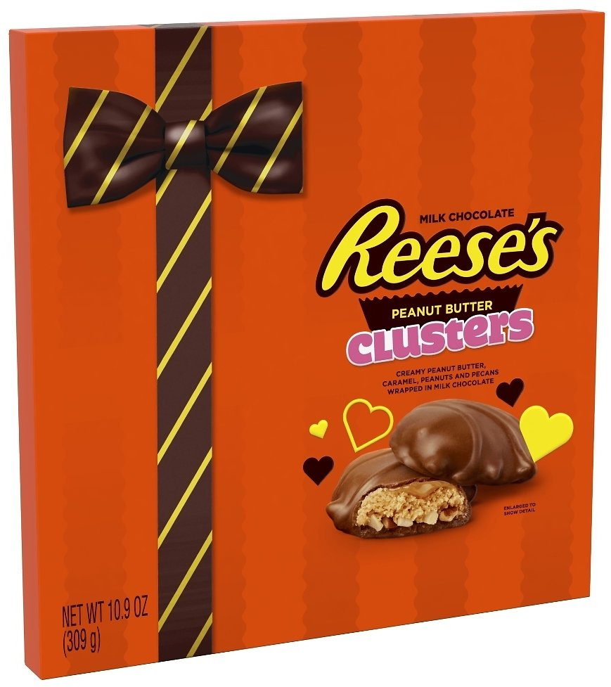 REESE'S, CLUSTERS, Milk Chocolate Peanut Butter Candy, Valentine's Day, 10.9 Oz., Gift Box