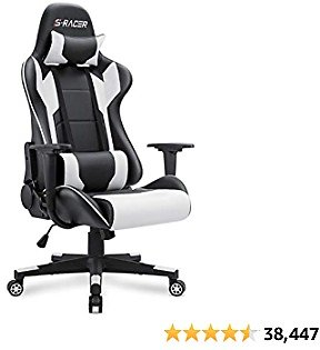 Gaming Chair Office Chair High Back Computer Chair Racing Executive Ergonomic Adjustable Swivel Task Chair