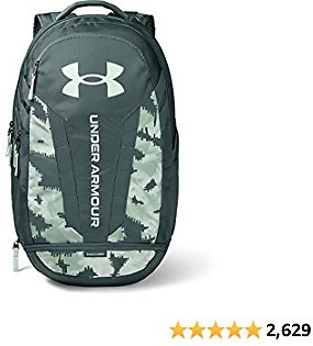 Under Armour Hustle Backpack, Lichen Blue (425)/Seaglass Blue, One Size Fits All