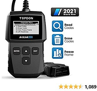 OBD2 Scanner TOPDON AL200 Code Reader for Reading/Clearing DTC, Turn-Off Check Engine Light, I/M Readiness, Smog Check, Freeze Frame, Vin Retrieval Diagnostic Scan Tool