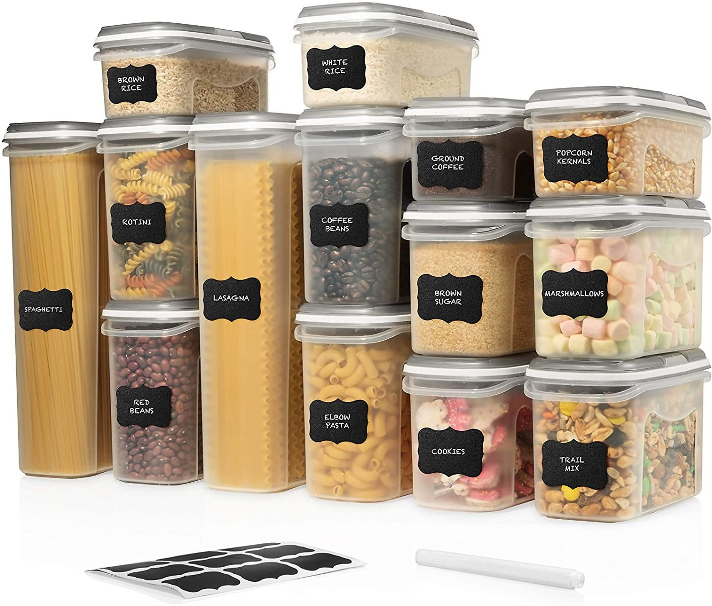 Airtight Food Storage Containers with Lids (14 Container Set)