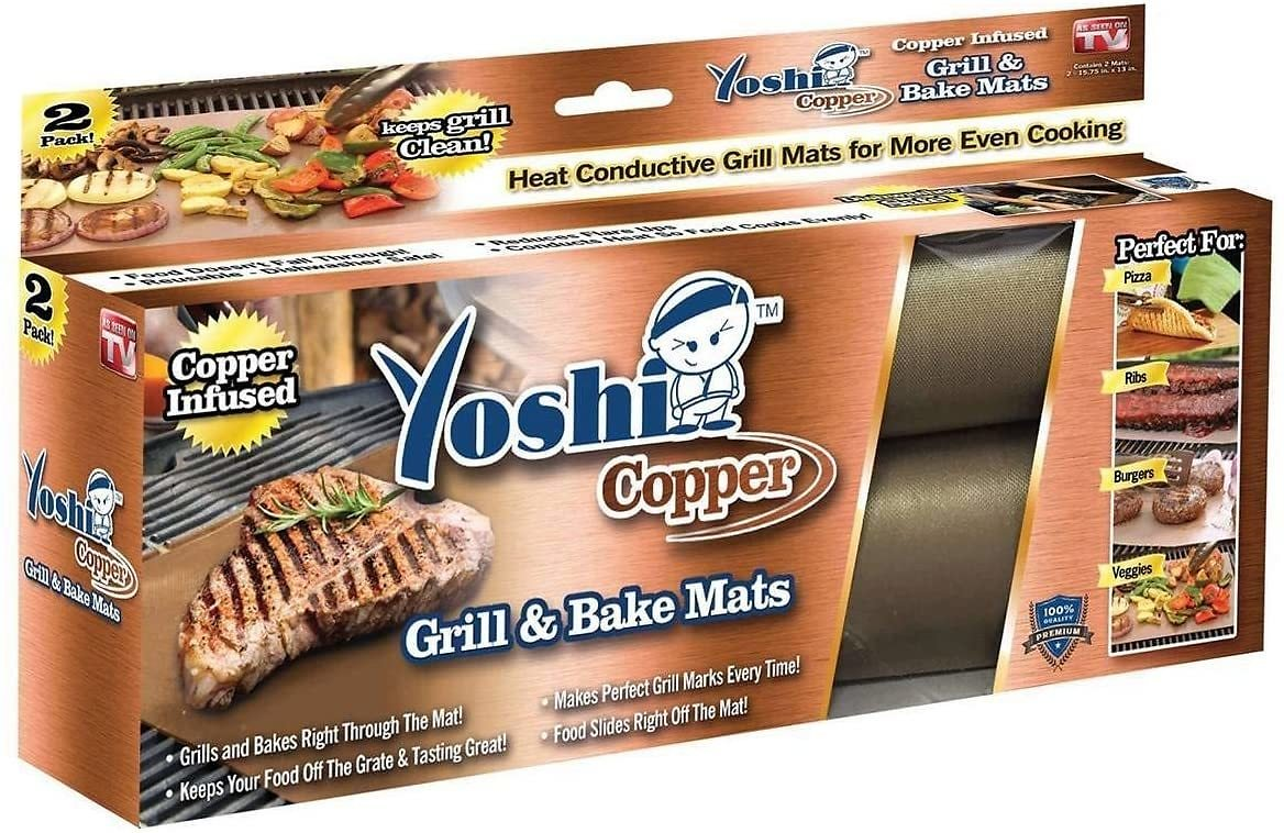 Pack of 2 - Yoshi Copper Grill Mats