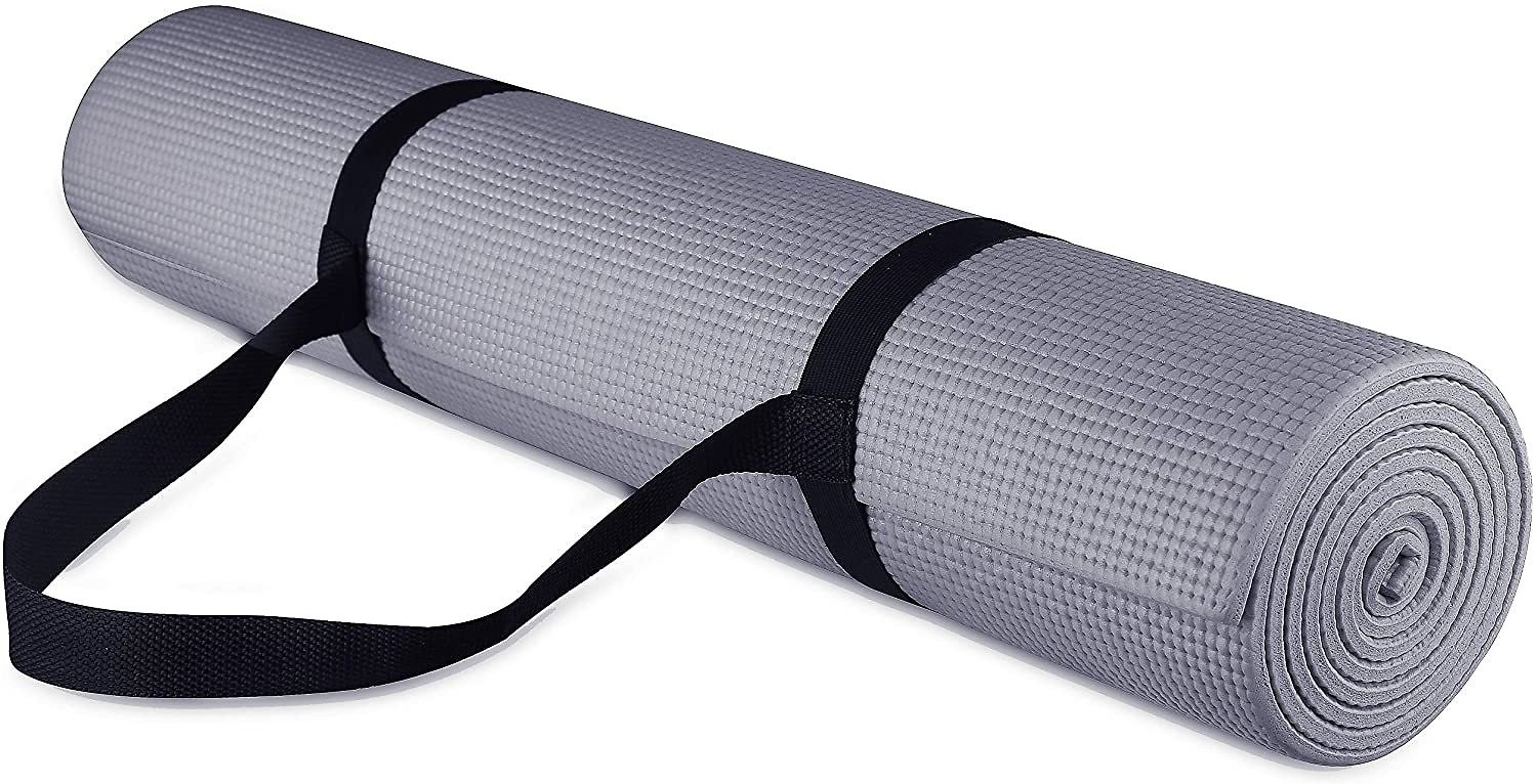 High Density Anti-Tear Exercise Yoga Mat with Carrying Strap