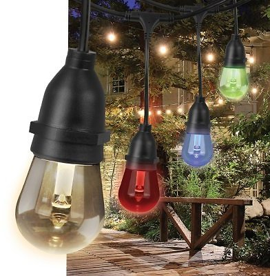 Feit Electric 30' Color-Changing LED String Lights (15 Bulbs) - Sam's Club