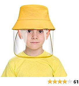 Kids Full Face Protective Hat, Anti Spitting, Anti-Saliva, Nose and Mouth Protection Packable Sun Hats for Kids