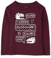 Baby And Toddler Boys Long Sleeve Dino Doodle Graphic Tee