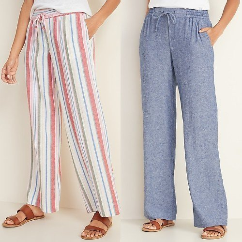 $14 Linen Blend-Pants (Multiple Styles)