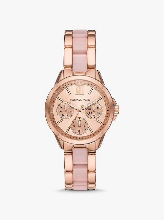 Bradshaw Rose Gold-Tone and Acetate Watch