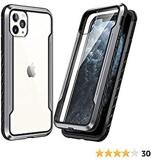 SmartDevil Shatterproof Series Designed for IPhone 11 Pro Max Cases, Passed Military Grade Drop Test, Anodized Aluminum, TPU, and Hard PC Protective Case for IPhone 11 Pro Max 6.5 Inch (Gray)