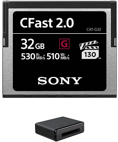 Sony 32GB CFast 2.0 G Series Memory Card with USB 3.0 Card Reader