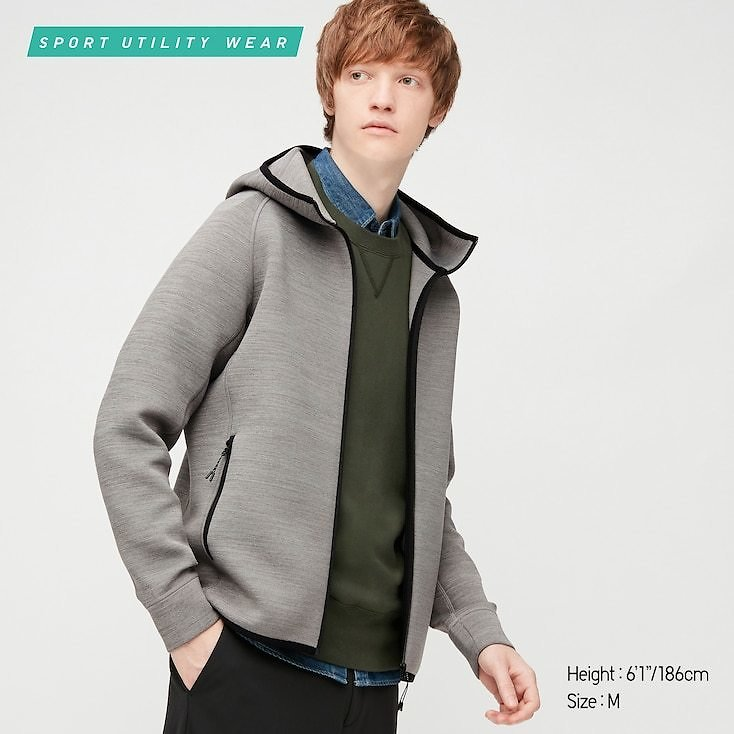 MEN ULTRA STRETCH DRY SWEAT FULL-ZIP HOODIE