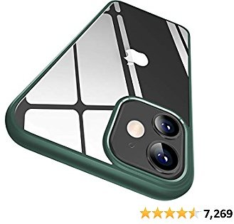 CASEKOO Crystal Clear Compatible with IPhone 12 Case, Designed for 12 Pro Case [Never Yellow] [Military Grade Protection] Shockproof Protective Phone Case Slim Thin Cover 5G 2020 (Midnight Green)