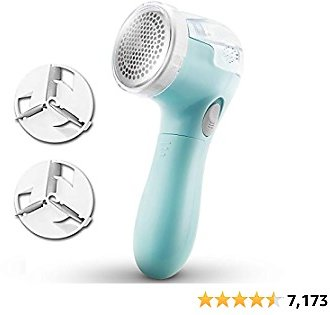 Lint Remover Fabric Shaver Lint Shaver Sweater Shaver Sweater Shaver Fabric Fuzz Remover Depiller for Clothes Lint Remover for Clothes Fabric Shaver Fuzz Remover Battery Operated Sky Blue