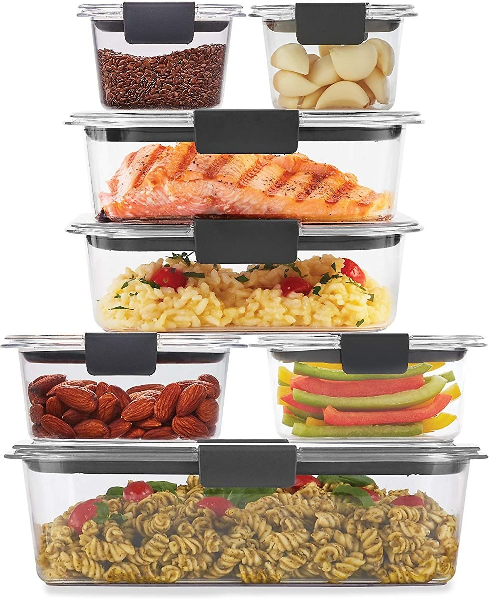 20% OFF - Rubbermaid Brilliance Storage 14-Piece Plastic Lids   BPA Free, Leak Proof Food Container, Clear