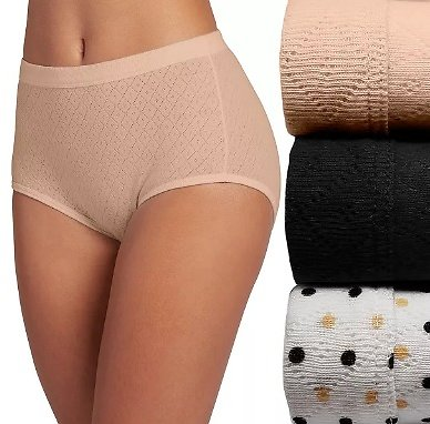 (3-pack )Women's Jockey® Elance Breathe Pointelle Briefs 1542