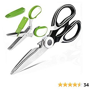 Molovee Kitchen Shears Stainless Steel,Kitchen Scissors Heavy Duty with Herb Scissors,Sharp Scissors for All Purpose