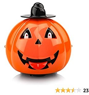 Toys for 1-5 Year Old Boys/Girls, Musical Car Toys for Kids Automatic Anti-collision Pumpkin Car Toys for Todllers Age 1 2 3 Birthday Gift/Present