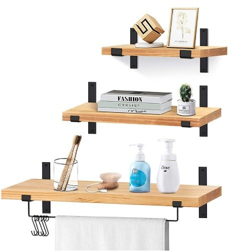 Solid Wood Wall Storage Shelves