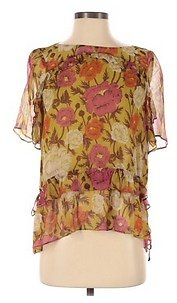 Pre-Owned Massimo Dutti Women's Size 4 Short Sleeve Blouse
