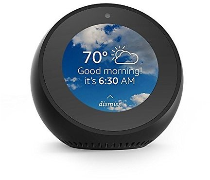 Today Only! Echo Spot Smart Alarm Clock with Alexa (Black or White)