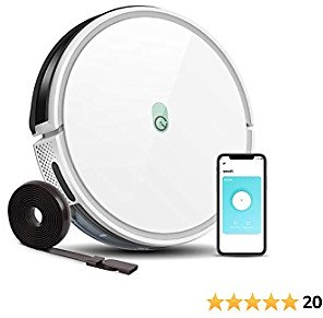 Yeedi K650 Robot Vacuum, 2000Pa Wi-Fi Robotic Vacuum Cleaner with 800ML Big Dustbin, 9.84 Feet Boundary Strips Included,130-min Runtime Good for Pet Hair, Carpets, Hard Floors, Self-Charging