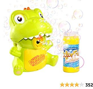 Bubble Machine, Automatic Durable Dinosaur Bubble Blower