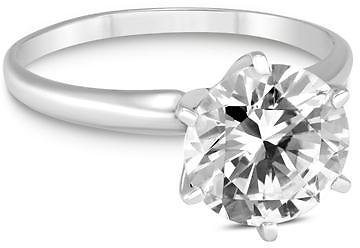 Deal of The Week - PREMIUM QUALITY - 1 Carat Diamond Solitaire Ring in 14K White Gold (G-H Color, SI1-SI2 Clarity) - RGF57803