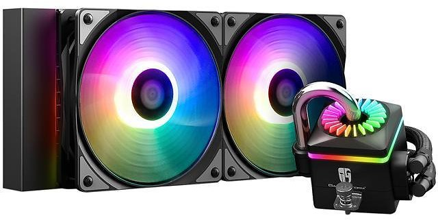 DEEPCOOL GAMERSTORM CAPTAIN 240PRO V2, Addressable RGB AIO Liquid CPU Cooler, 240mm Radiator,Anti-Leak Technology Inside, Cable Controller and 5V ADD RGB 3-Pin Motherboard Control, TR4/AM4 Compatible - Newegg.com