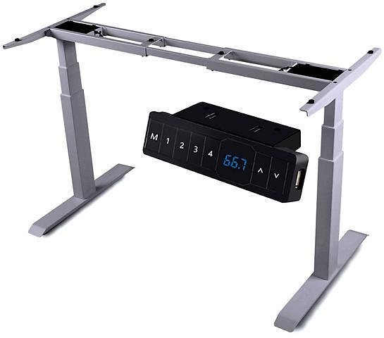 AIMEZO Dual Motor Electric Adjustable Desk Base Standing Workstation Desk Adjustable Height Sit Stand Home Office Standing Desk Frame with 3 Tiers Legs / 4 Memory Preset Button / 1 USB Port Controller - Newegg.com