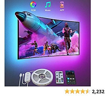 Govee TV LED Backlights, 9.8FT LED Lights for TV with App and Remote Control, Music Sync, DIY and Scene Modes, RGB Color Changing TV Backlights for 46-60 Inch TVs, Computer, Bedroom, USB Powered