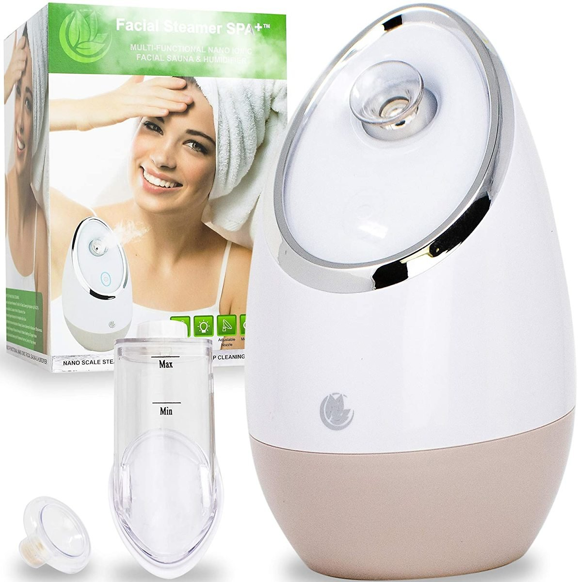 67% OFF - Facial Steamer SPA+ By Microderm GLO - Best Professional Nano Ionic Warm Mist, Home Face Sauna