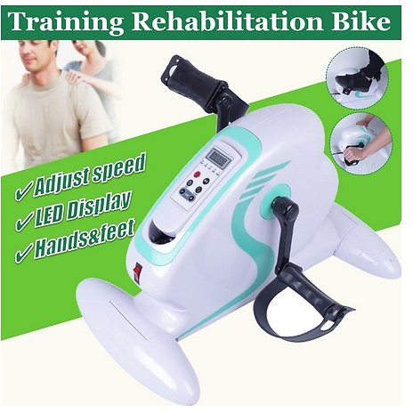 Home Mini Exercise Bike Magnetic Contro Pedal Stepper Fitness Running Machine Rehabilitation Training for The Aged Indoor