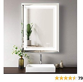 """SMARTCOOM LED Bathroom Mirror Light Vanity Dimmer Touch Control Wall Mounted Backlit Anti Fog Horizontal Vertical (24""""×32"""")"""