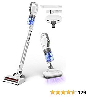 APOSEN Cordless Vacuum Cleaner, Stick Vacuum Cleaner 4 in 1, with Two Brush Types, 21000Pa Strong Suction with Top Brushless Motor Multi-Attachments Extension Wand Ultra-Quiet H21S