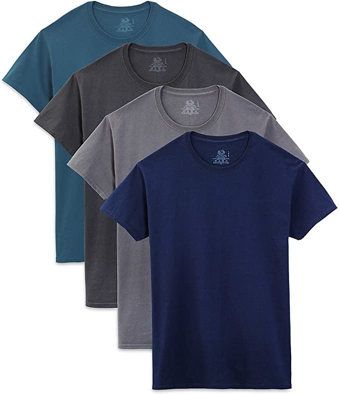 Pack of 4 - Fruit of The Loom Men's Crew Neck T-Shirt