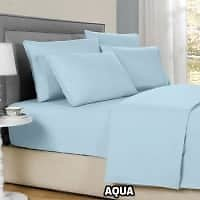All Sizes of Bamboo 6-Piece Solid Sheet Sets, 1800 Count (8 Colors)