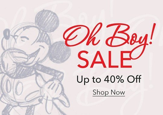 Up To 40% Off 'Oh Boy' Sale + Free Ship