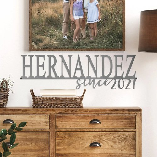70% Off! Personalized Our Happy Family Steel Signs + F/S
