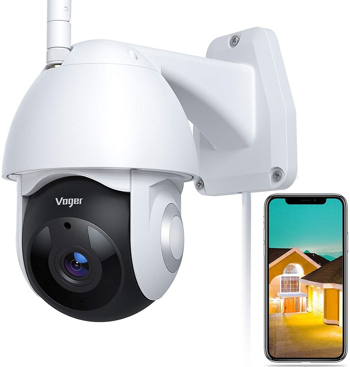 Voger 360° View WiFi Home Security Camera System