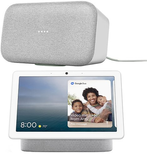 Google Home Max - Chalk - (GA00222-US) w/ Google Nest Hub Max (Chalk)