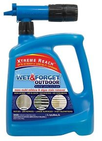 Wet & Forget 68oz Outdoor Hose End Moss Mold Mildew and Algae Stain Remover