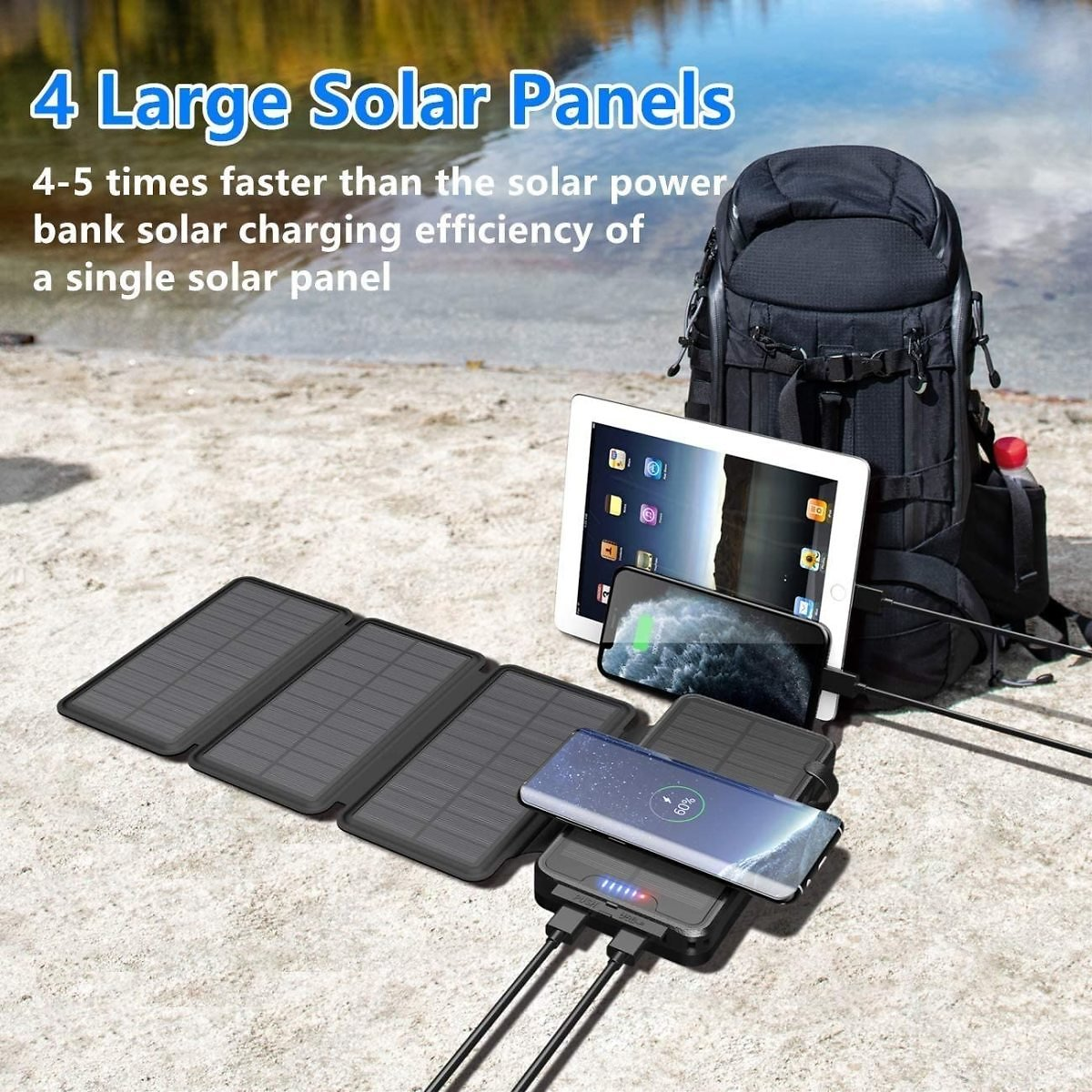 Solar Power Bank For All USB Device